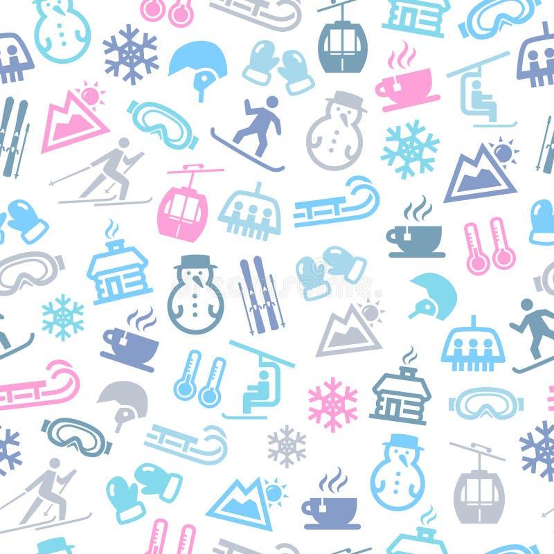 De winter Naadloos Patroon vector illustratie
