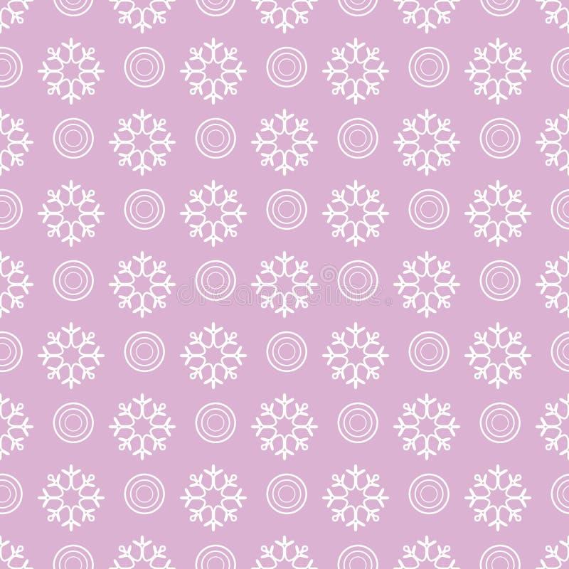 De winter naadloos patroon met sneeuwvlokken, cirkels vector illustratie