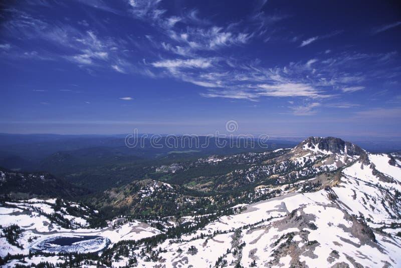 De winter in Nationaal Park Lassen royalty-vrije stock afbeeldingen