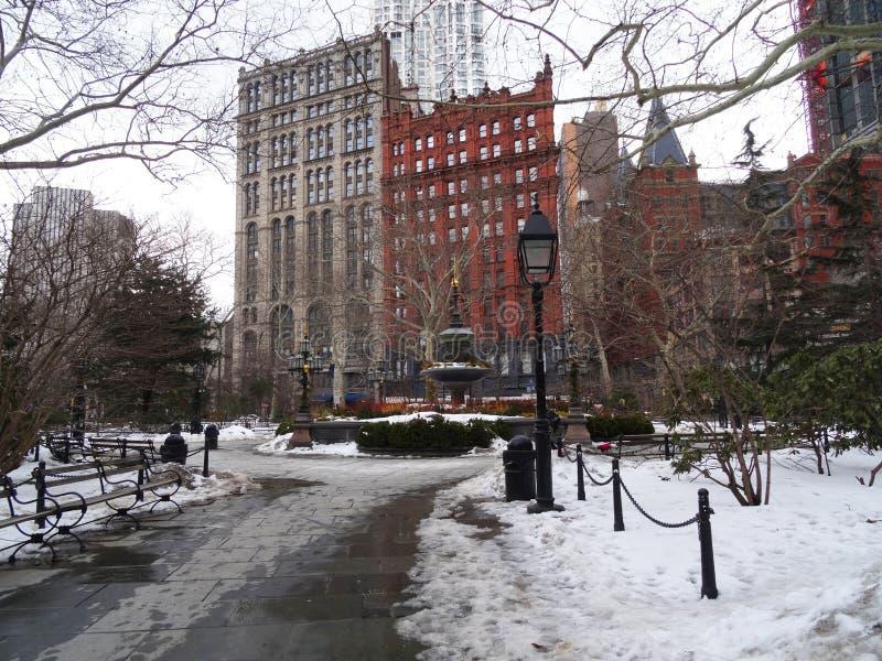 De winter in New York stock foto