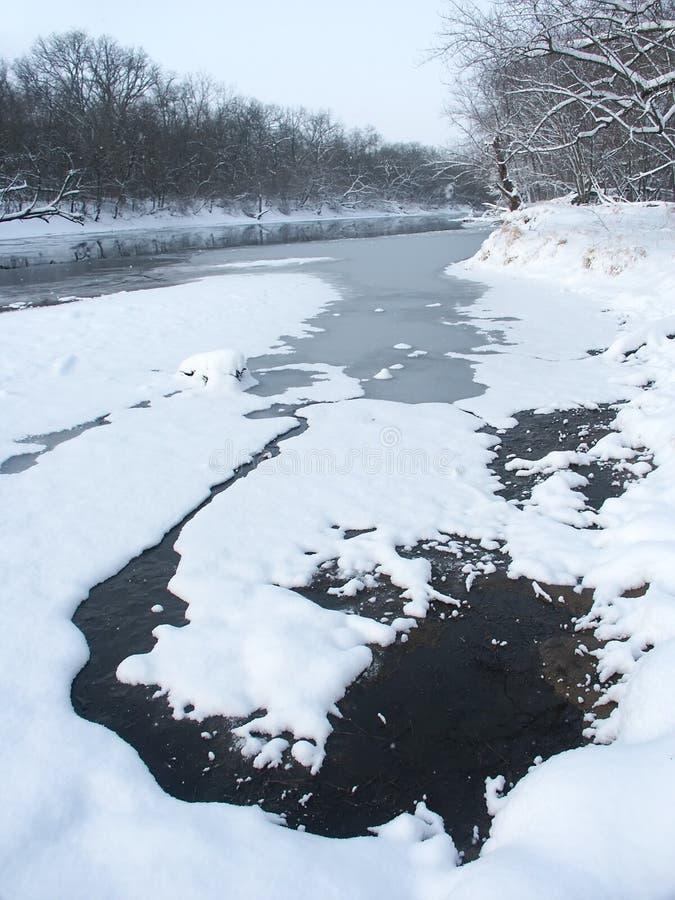 De winter in noordelijk Illinois royalty-vrije stock fotografie