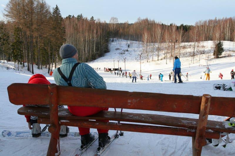 De winter ontspant royalty-vrije stock foto's