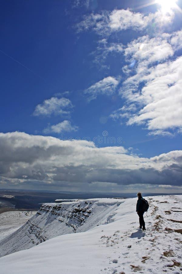 De winter op de Bakens Brecon stock foto