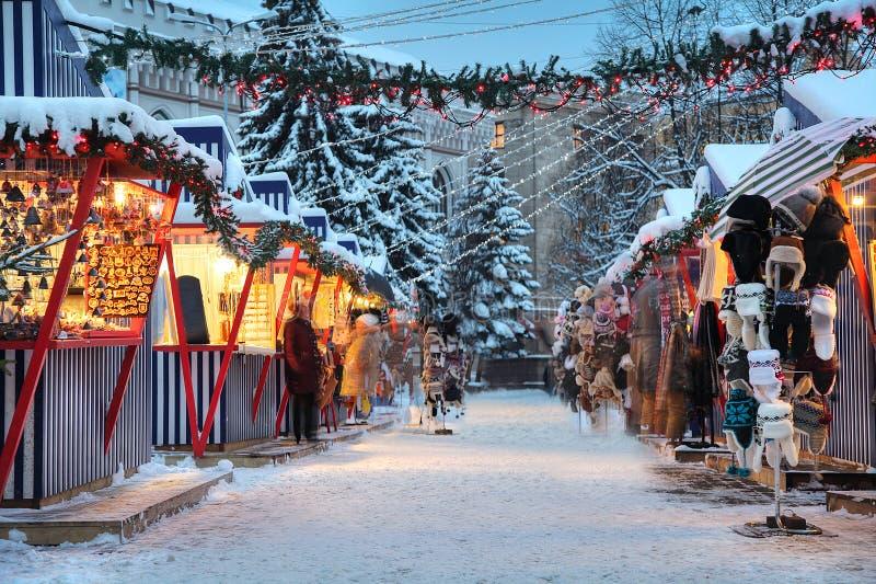 De winter in Riga royalty-vrije stock foto