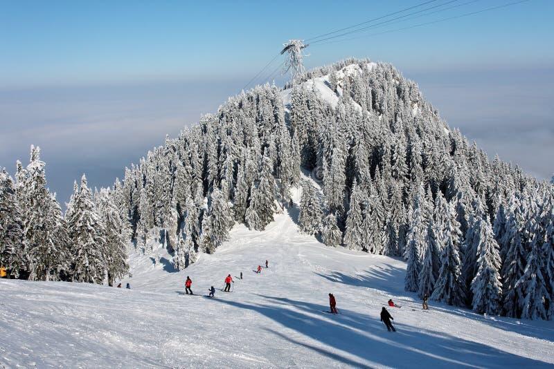 De winter in Roemeense berg stock foto's