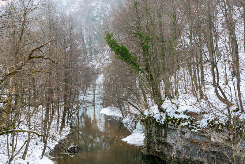 De winter in Roemenië stock foto's