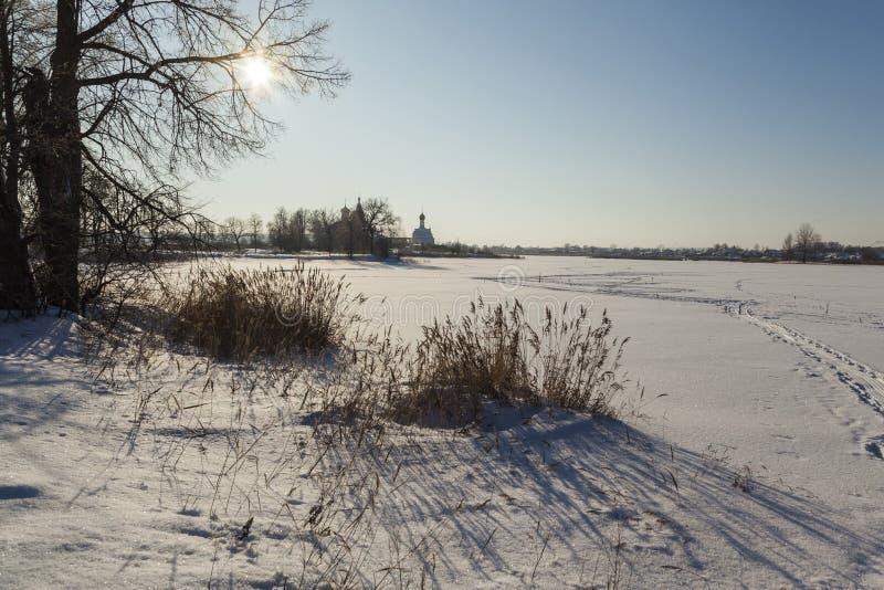 De winter, Rusland royalty-vrije stock foto