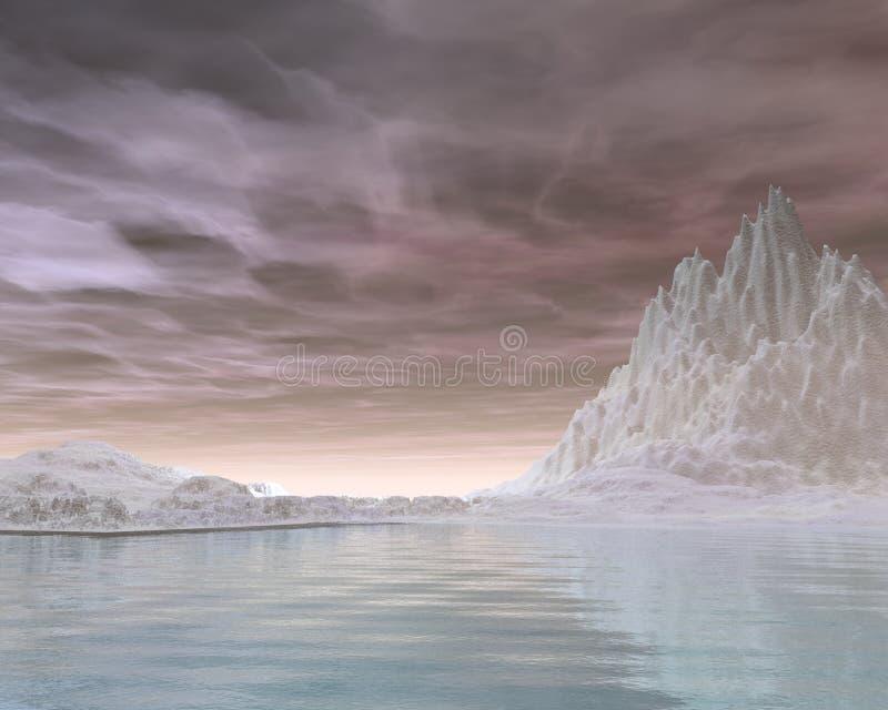 De winter Snowscape - 6 vector illustratie