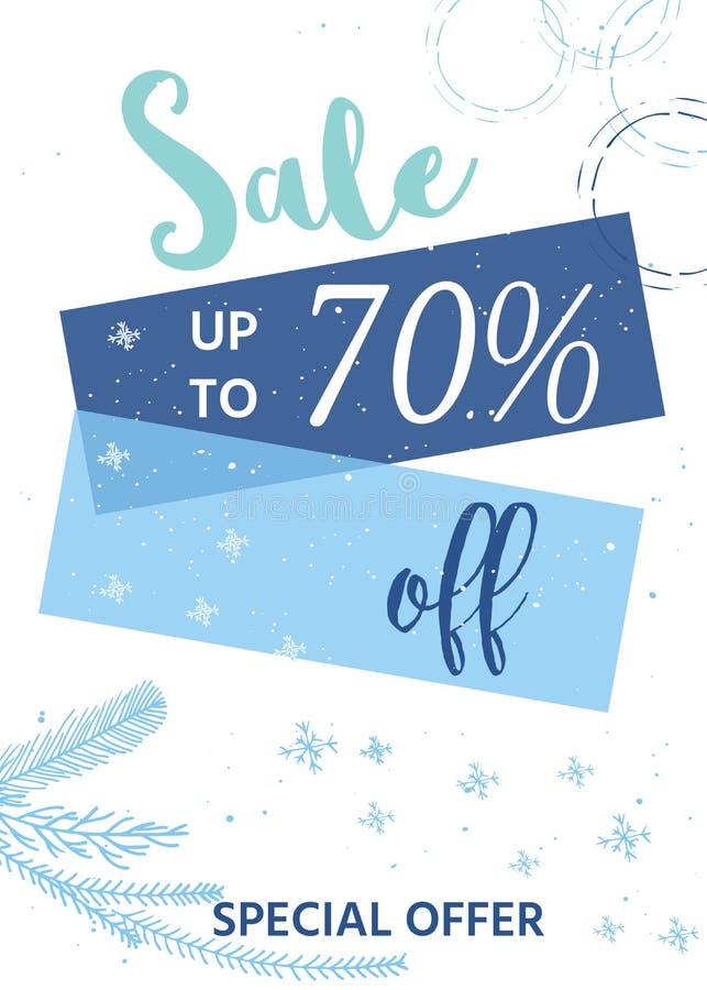 De winter sociale media verkoopbanners en advertenties, collectio van het Webmalplaatje stock illustratie