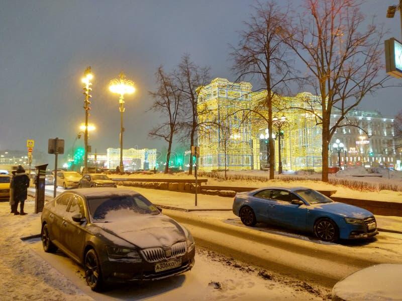 De winter in de stad royalty-vrije stock fotografie