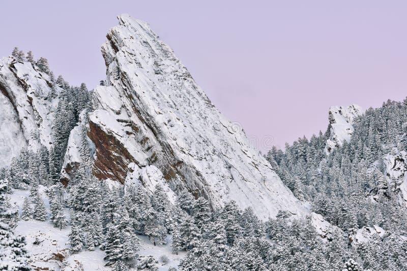 De winter, Strijkijzers in Dawn stock fotografie