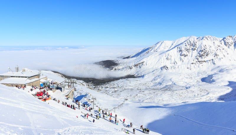 De winter in Tatras, op de bovenkant van Kasprowy Wierch royalty-vrije stock foto's