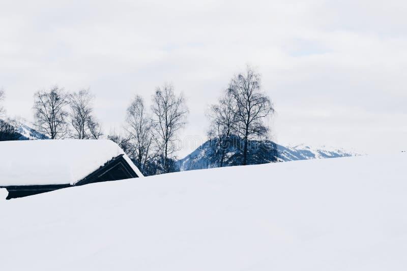 De winter in Tirol, Tirol Oostenrijk, 2018 Januari royalty-vrije stock foto's