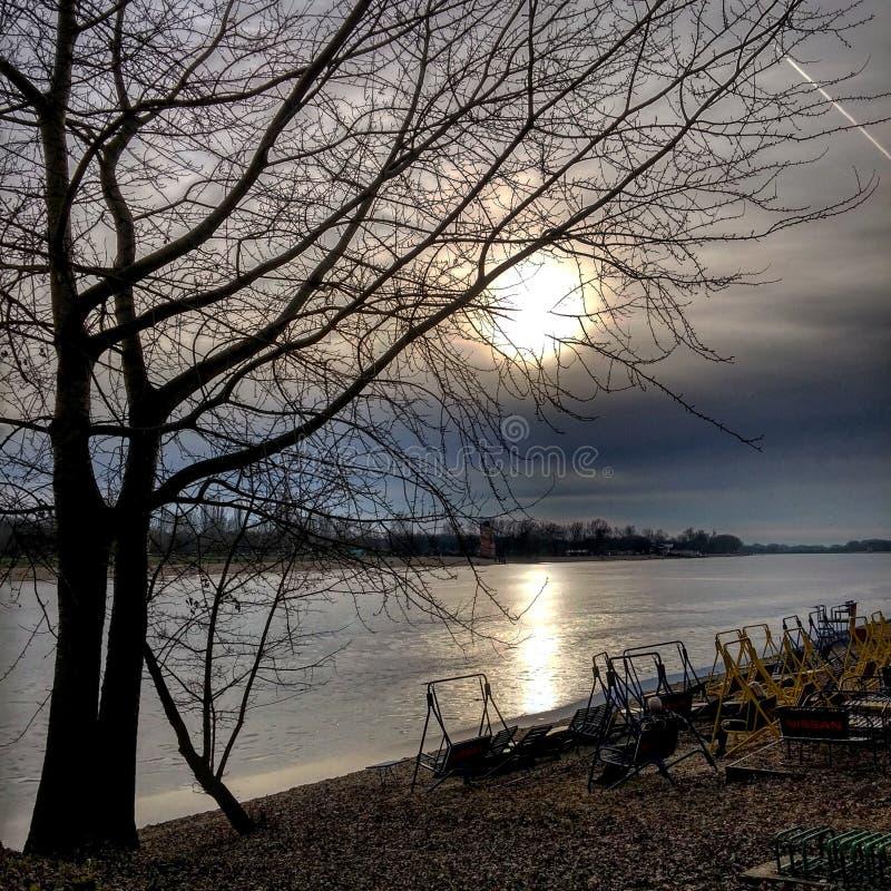 De winter van Belgrado royalty-vrije stock foto