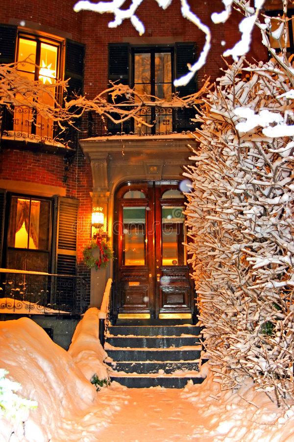 De Winter van Boston stock afbeeldingen