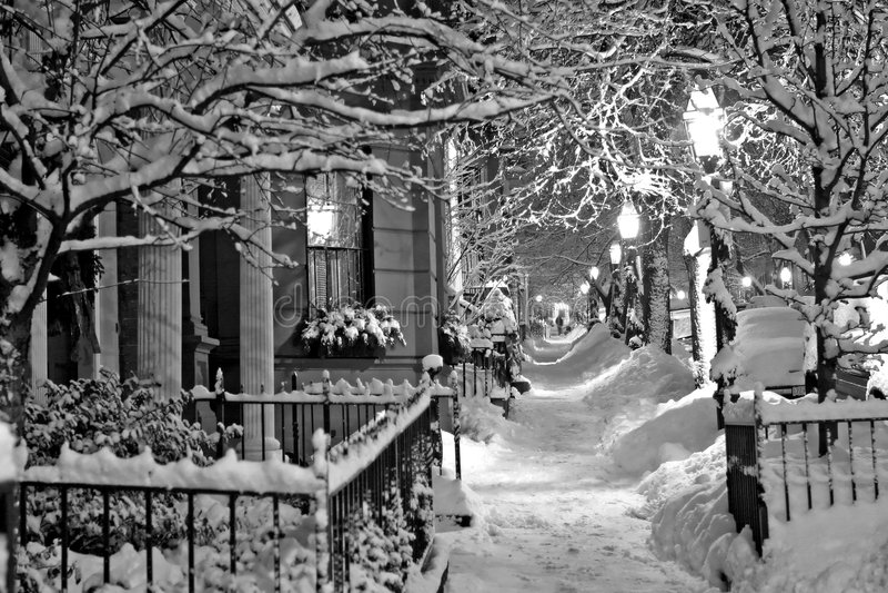 De Winter van Boston royalty-vrije stock fotografie