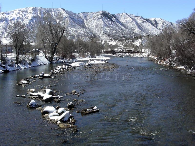 De Winter van de berg stock foto