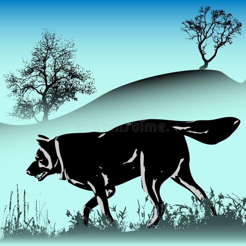 De Winter van de wolf vector illustratie