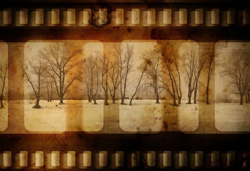 De winter van Grunge royalty-vrije illustratie