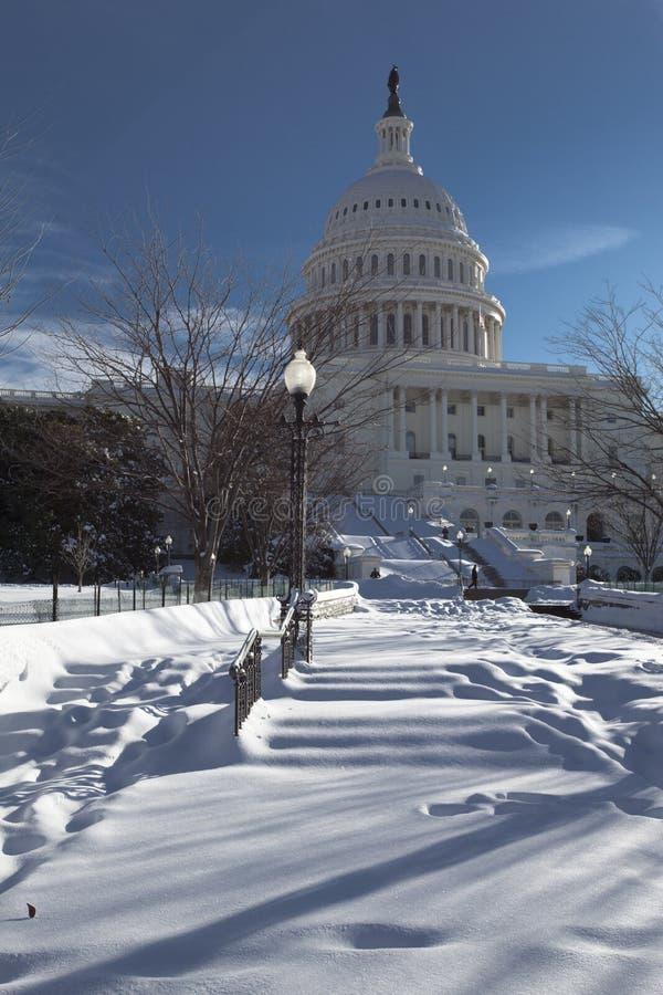De winter van het Capitool stock fotografie