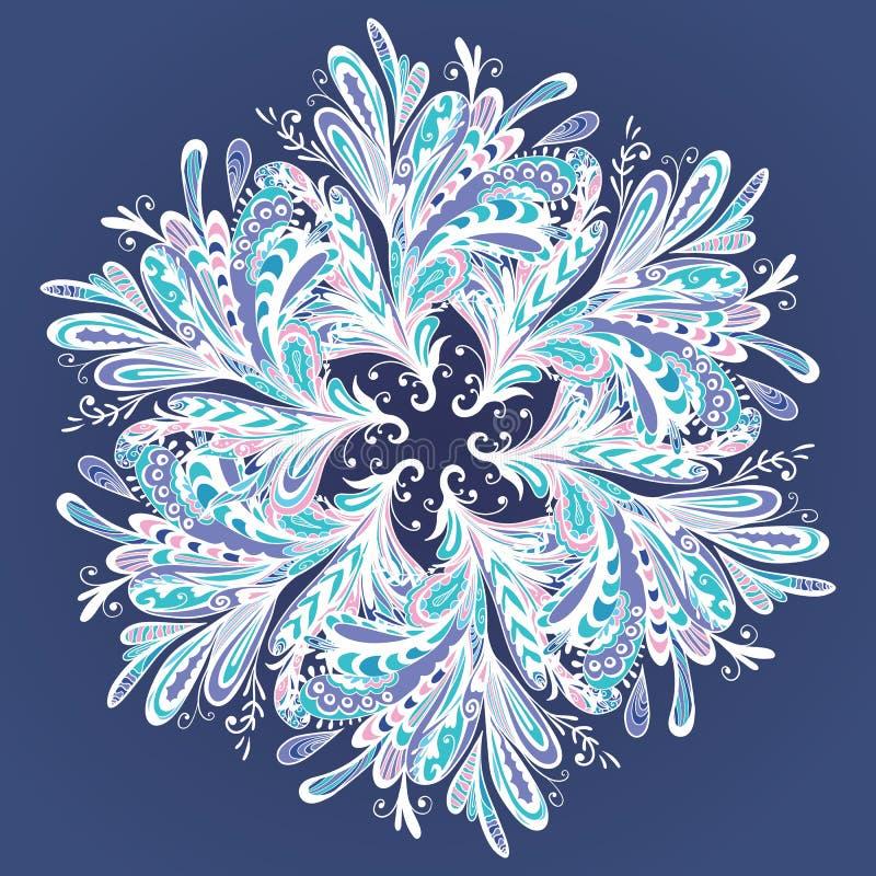De winter Vectormandala stock illustratie