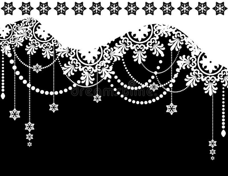 De winterachtergrond van de sneeuwvlok. vector illustratie