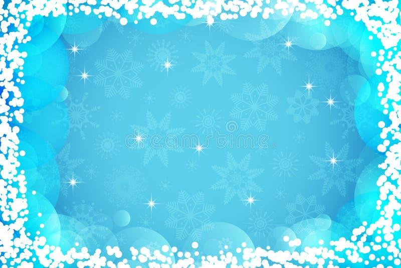 De winterachtergrond voor de kaarten van de Vakantiegroet Vrolijke Kerstmis en Gelukkige Nieuwjaarachtergrond Abstract sneeuwvlok vector illustratie