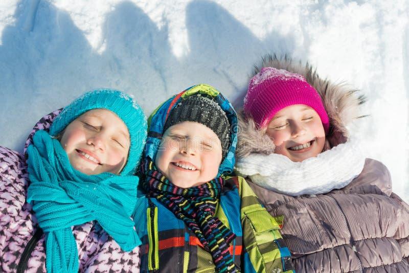 De winteractiviteit royalty-vrije stock fotografie