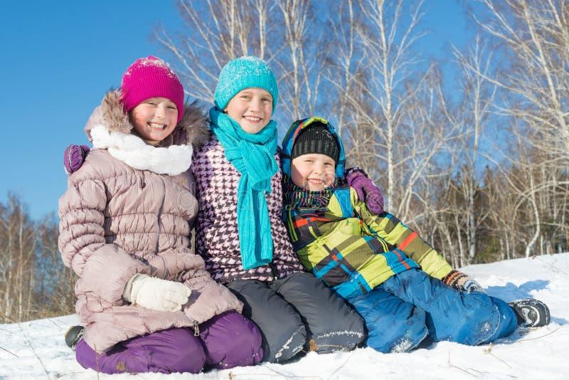 De winteractiviteit royalty-vrije stock foto