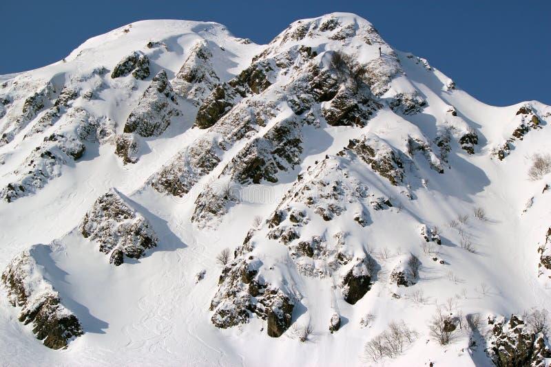 De winterbergen, skitoevlucht Rosa Khutor stock afbeeldingen