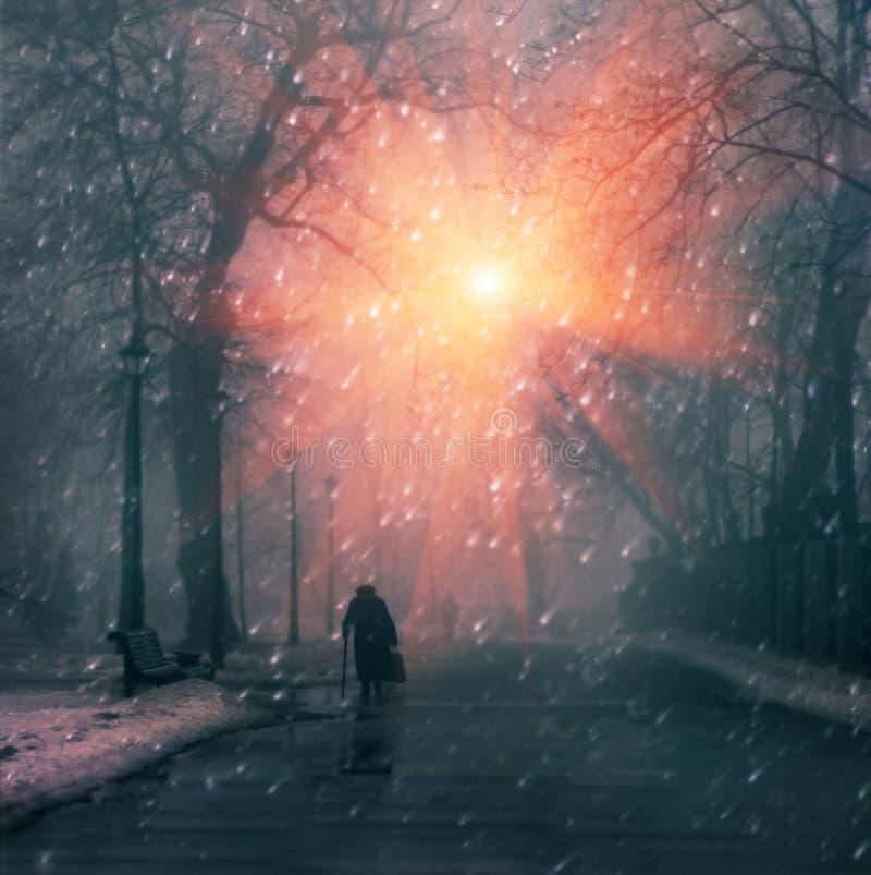 De winterdag stock afbeelding