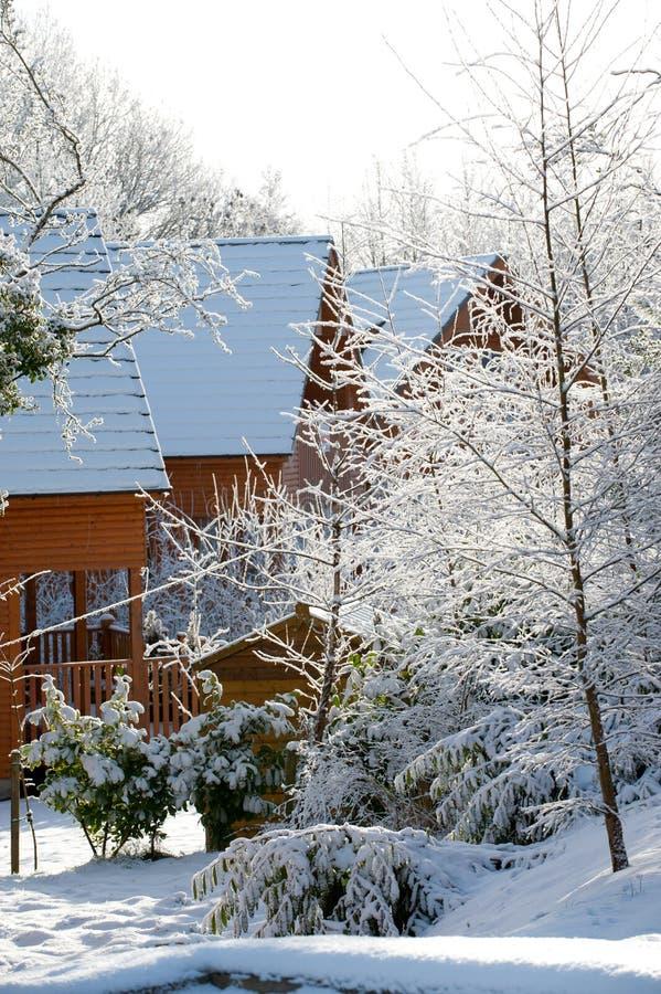 De winterdag in het land stock afbeeldingen