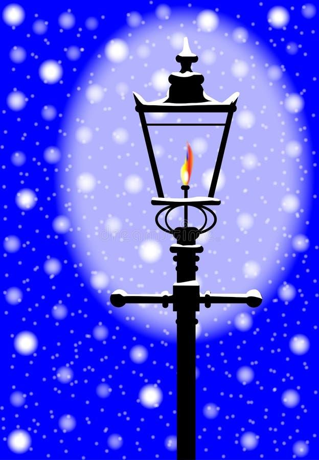 De wintergaslicht royalty-vrije illustratie