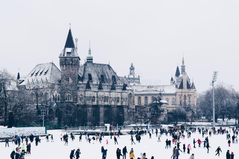 De wintergenoegen, Boedapest Hongarije 2018 December royalty-vrije stock afbeelding