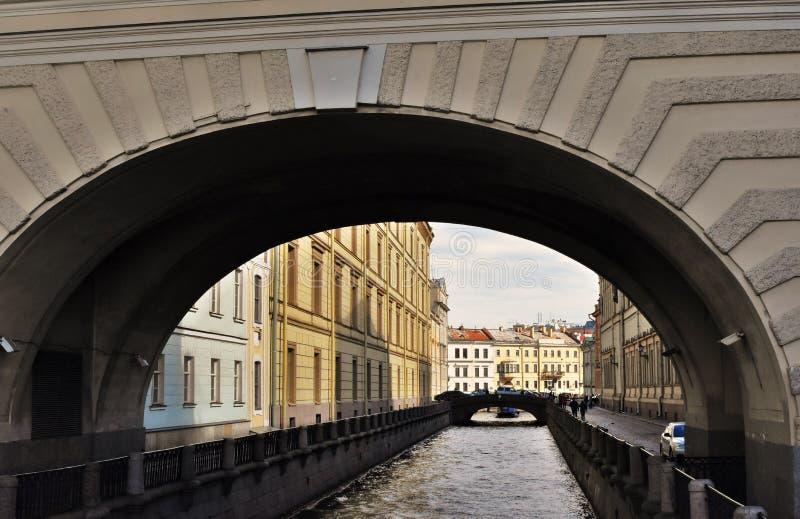 De de Wintergroef in Heilige Petersburg, Rusland stock afbeelding