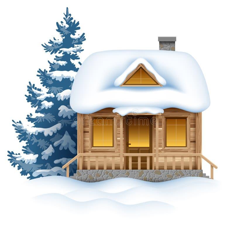 De winterhuis royalty-vrije illustratie