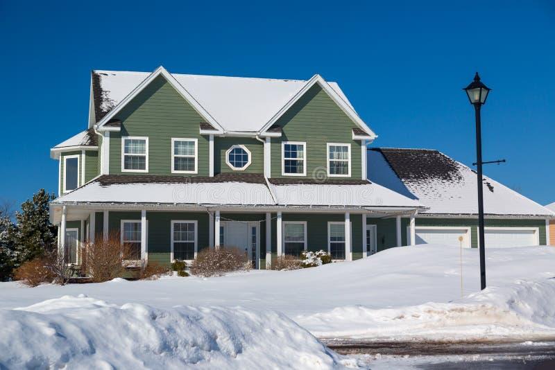 De winterhuis stock afbeelding