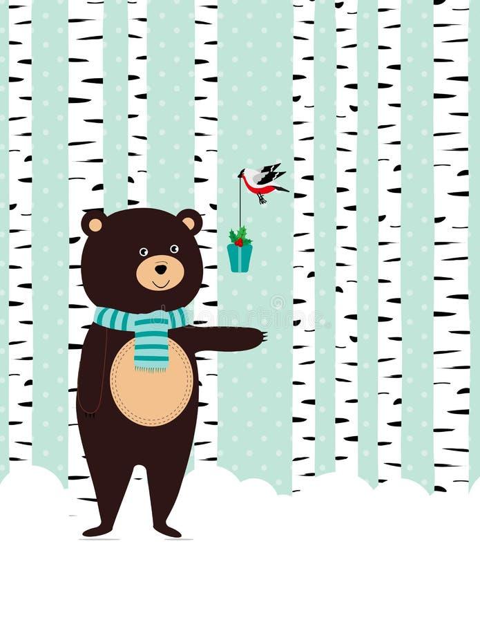 De winterkaart stock illustratie