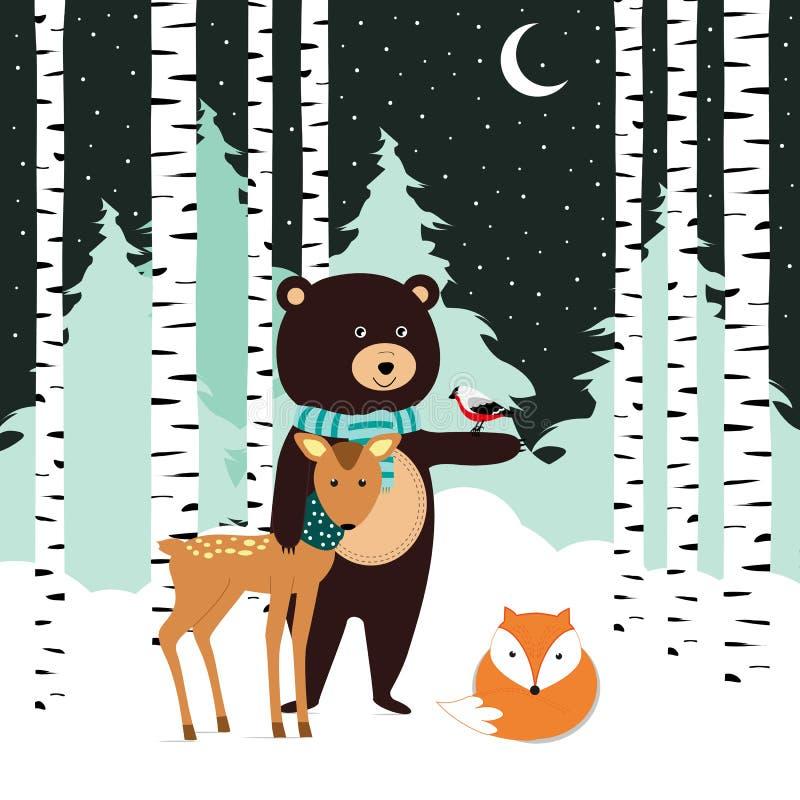 De winterkaart royalty-vrije illustratie