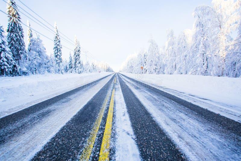 De winterkaartweergave van Finland royalty-vrije stock fotografie