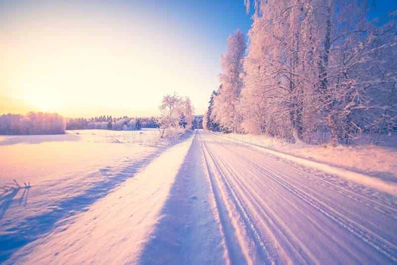 De winterkaartweergave van Sotkamo, Finland royalty-vrije stock afbeeldingen