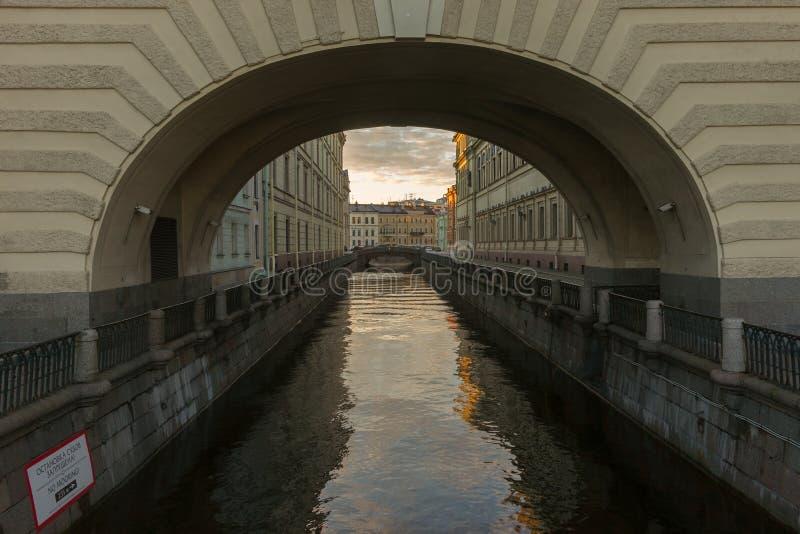 De winterkanaal stock foto's