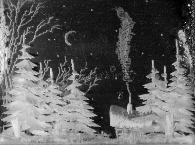 de winterkerstmis gegraveerd glas royalty-vrije stock afbeeldingen