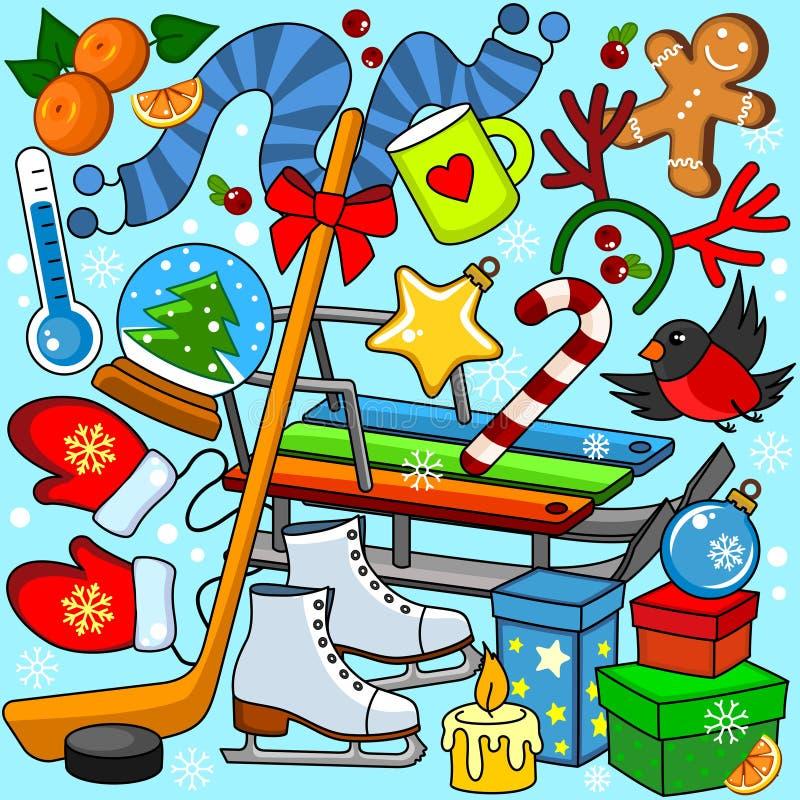 De winterkleuring voor kinderen stock illustratie
