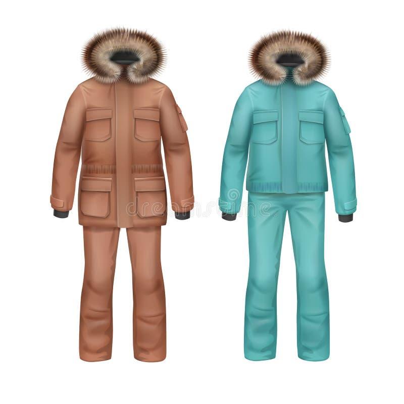 De winterlaag en broek stock illustratie