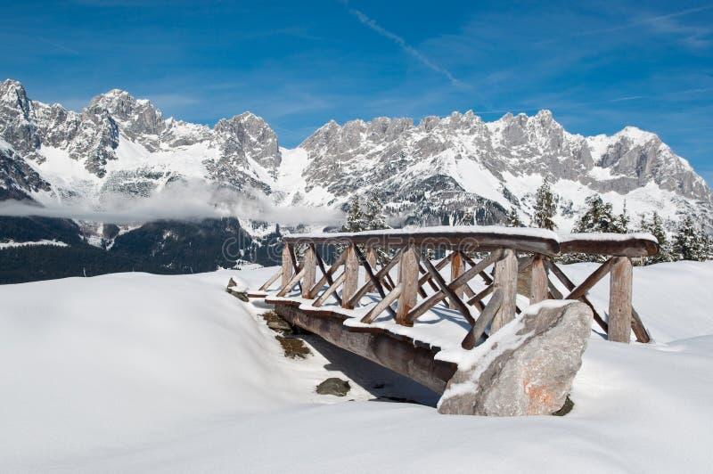 De winterlandschap stock foto