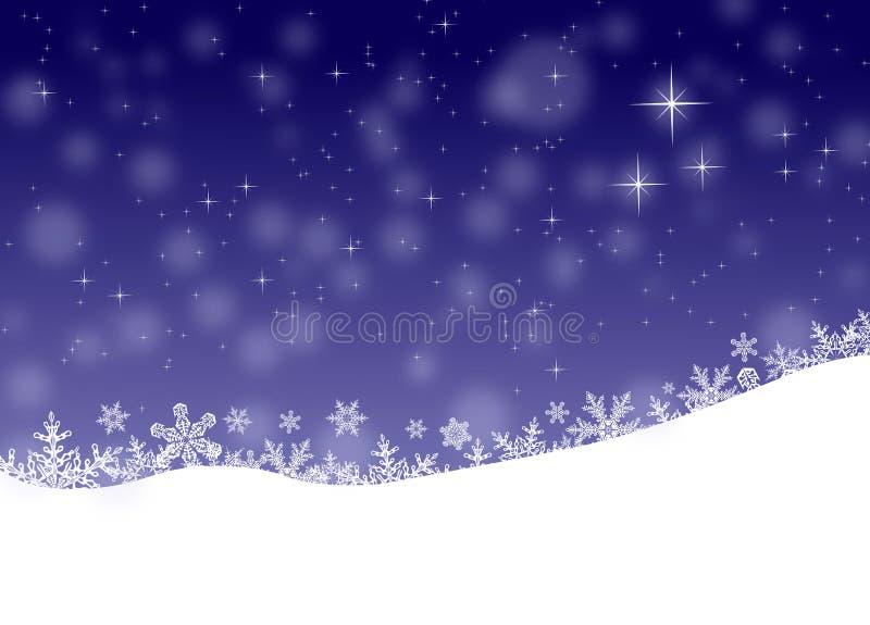 De winterlandschap, Kerstmisachtergrond royalty-vrije stock foto