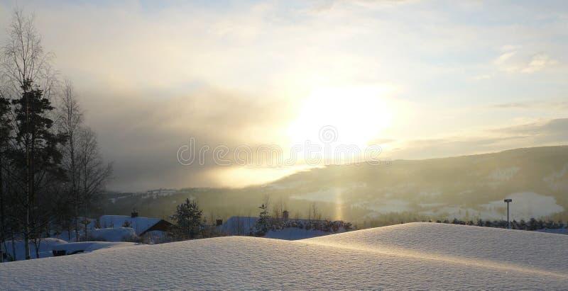 De winterlandschap, Noorwegen royalty-vrije stock afbeeldingen