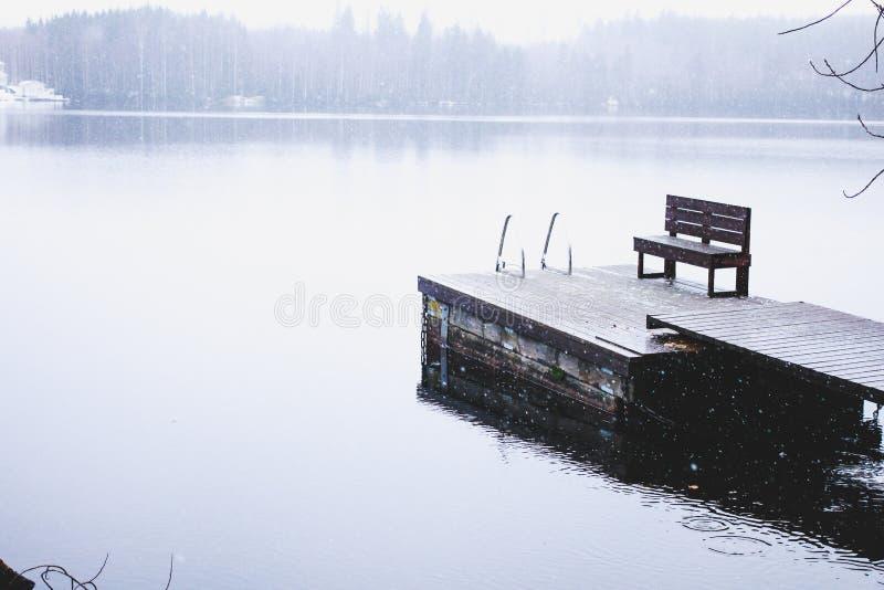 De winterlandschap van mooie Heinola, Finland stock foto's