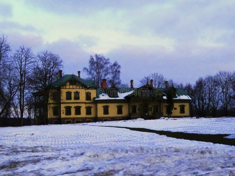 De winterlandschappen landgoed royalty-vrije stock afbeeldingen